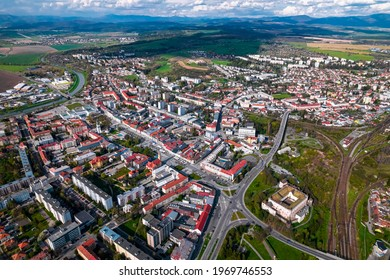 Zvolen city from above, Slovakia - Shutterstock ID 1969746553