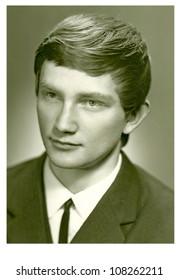 ZVOLEN, CZECHOSLOVAK REPUBLIC, CIRCA 1970 - Young man - circa 1970