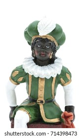 Zwarte Piet, which means black Pete in dutch, the helping hand of Sinterklaas, a dutch holiday on december the fifth