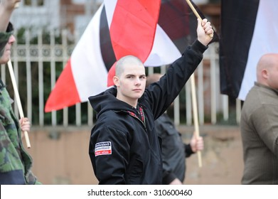 Zweibruecken, Germany - March 20, 2009: Protests against Neo Nazis and right wing extremists demonstrating