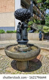 Zwickau, Germany - 07/10/2015 - fountain of the market women