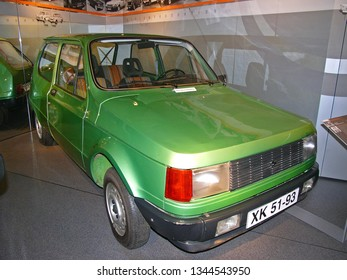 ZWICKAU, GERMANY, AUGUST 2007. Prototype P610-1100 of 1973-79, developed by IFA and Skoda, successor to former East-German small car P601 TRABANT, exhibited in Germany.