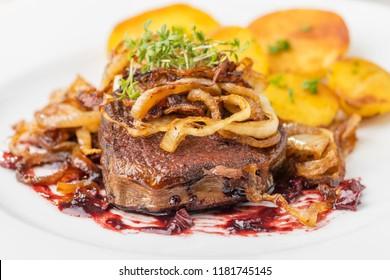 zwiebelrostbraten, a german steak with onions