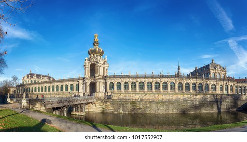 Zwinger Palace in Dresden, Saxony, Germany, December 2017