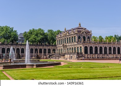 Zwinger Park, palace in Dresden, eastern Germany, built in Rococo style