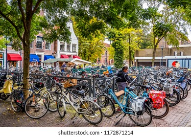 Zwolle images stock photos vectors shutterstock zwolle the netherlands oct 11 2014 bikes parked in the center ccuart Image collections
