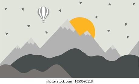 Детская графическая иллюстрация. Использование для печати на стене, подушке, украшении интерьера детей, детской одежды и рубашки, поздравительные открытки, вектор и другие