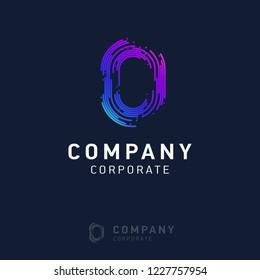0 company logo design vector