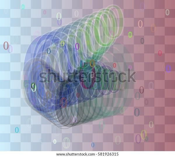 0 Number texture vector
