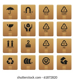 01Packaging Icons Professional vector set for your website, application, or presentation. The graphics can easily be edited colored individually and be scaled to any size