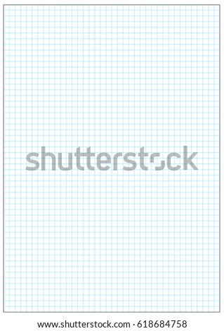 025 CM Grid Printable Graph Paper Blue Grid Stock Vector Royalty