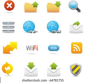 07 Internet Icons Professional vector set for your website, application, or presentation. The graphics can easily be edited color individually and be scaled to any size