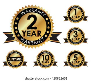 1, 2, 3, 5, 10 years and lifetime warranty golden label set