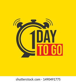 1 day to go last countdown icon. vector illustration