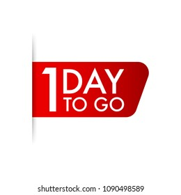 1 day to go. Vector stock illustration.