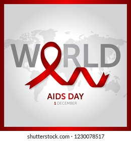 1 december world aids day concept design vector illustration