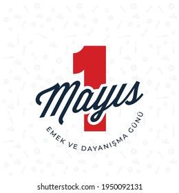 1 Mayıs Emek ve Dayanışma Günü (1th Internationl May Labor Day) typography emblem