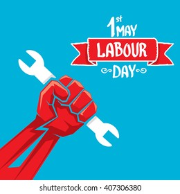 1 may - labour day. vector labour day poster or banner
