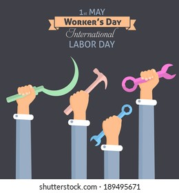 1 May Worker's Day Poster Flyer