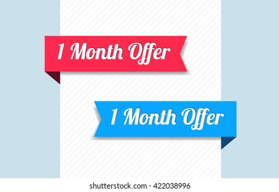 1 Month Offer Ribbons