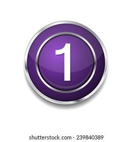 1 Number Circular Vector Purple Web Icon Button