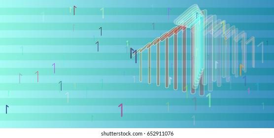 1 Number vector texture
