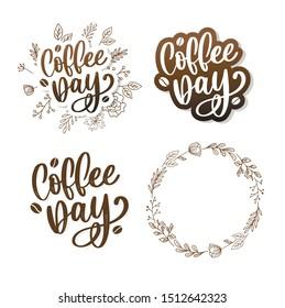 1 October International coffee day Logo. World Coffee day Logo Icon vector illustration on white background.