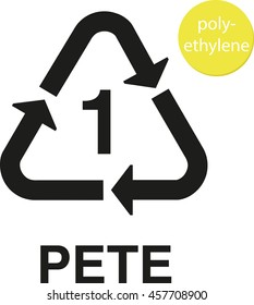 1 PETE polyethylene recycling code