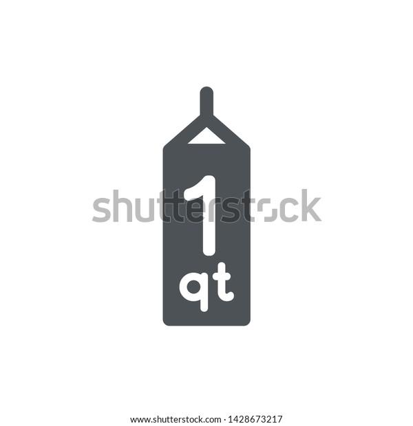 1 Quart Sign Qt Mark Estimated Stock Vector (Royalty Free ...