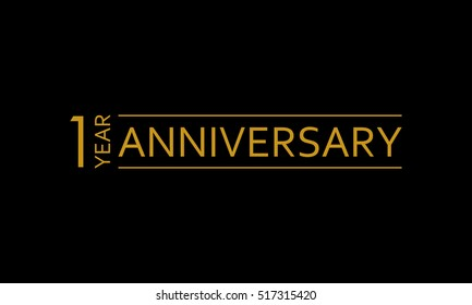 1 year anniversary icon. 1st birthday emblem. Anniversary design element. Vector illustration.