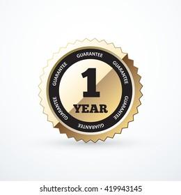 1 year guarantee gold label