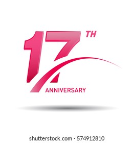 1 year pink anniversary. business, corporate, wedding, love, valentine logo celebration