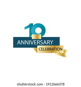 10 Anniversary celebration vector template design illustration