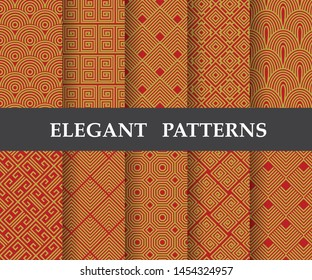 10 different elegant classic patterns. Endless ans seamless texture can be used for wallpaper, pattern fills, web page background,surface textures,tile, greeting card, scrapbook, backdrop