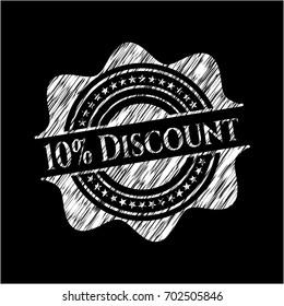10% Discount chalkboard emblem