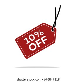 10% Discount Hang Tag Vector Template. Flat Illustration Design. Vector EPS 10.