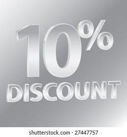 10% Discounts / vector