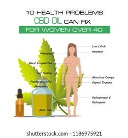 10 health problems cbd oil... fix for women over 40