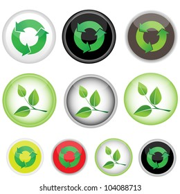 10 icons on the responsibility, vector image