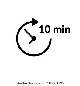 10 min icon. vector illustration