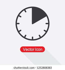 10 Minutes Icon Vector Illustration Eps10