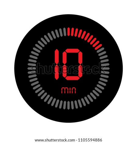 10 minutes stopwatch vector icon digital stock vector royalty free