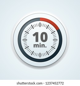 10 Minutes Time button illustration