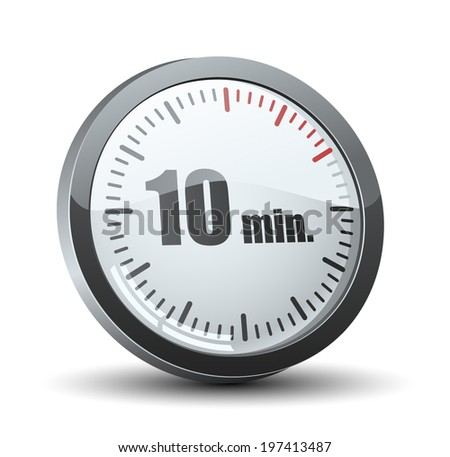 10 minutes timer stock vector 197413487 shutterstock