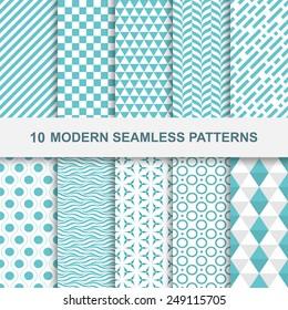 10 Modern seamless geometric patterns