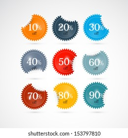 10 off 20 30 40 50 60 70 80 90 stickers labels
