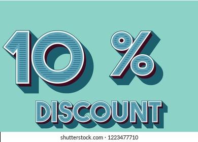 10% off discount promotion sale,  sale promo marketing.