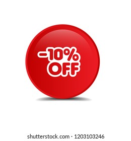 10% OFF Sale Discount Banner.designed for shops and promotions. modern concept.Sale discount icons