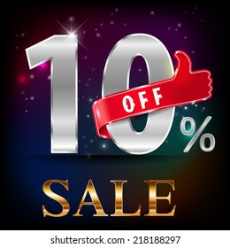 10% off, 10 sale discount hot sale with special offer- vector EPS10