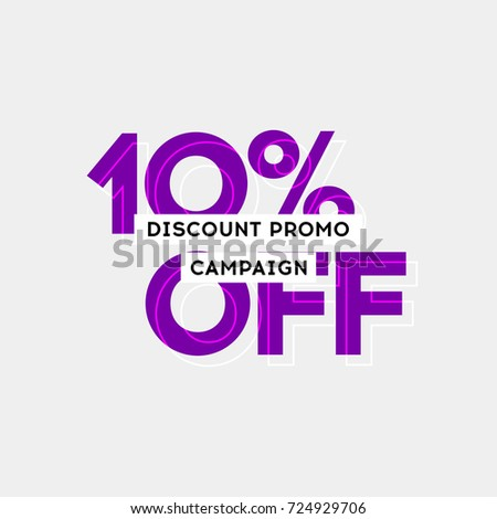 10 Off Sale Offer Special Promo Stock Vektorgrafik Lizenzfrei